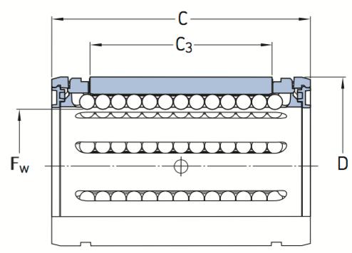 CAD afbeelding LBCT kogellager