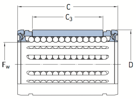 CAD LBHT ball bearing