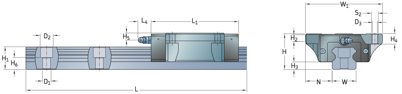 CAD LLTHC A profile rail carriage