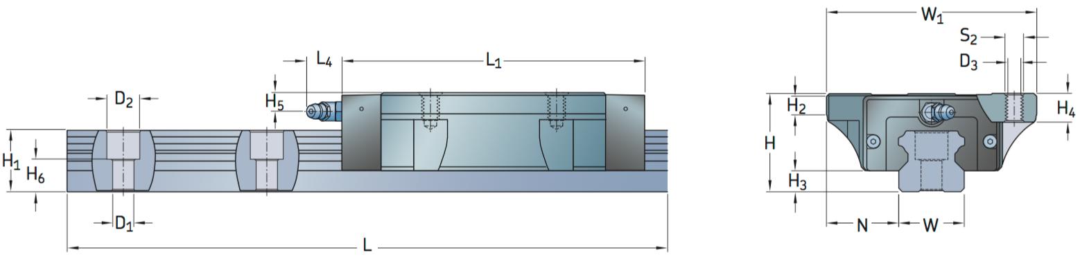 CAD afbeelding LLTHC LA loopwagen
