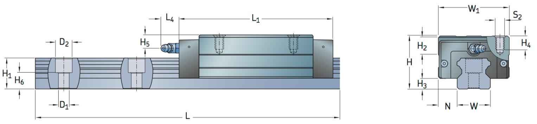 CAD afbeelding LLTHC LR loopwagen