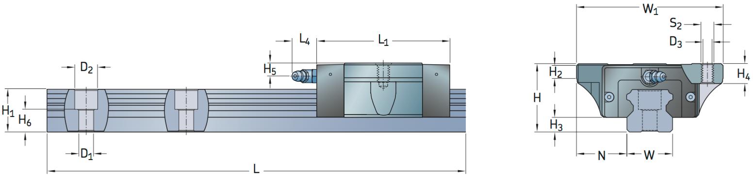 CAD afbeelding LLTHC SA loopwagen