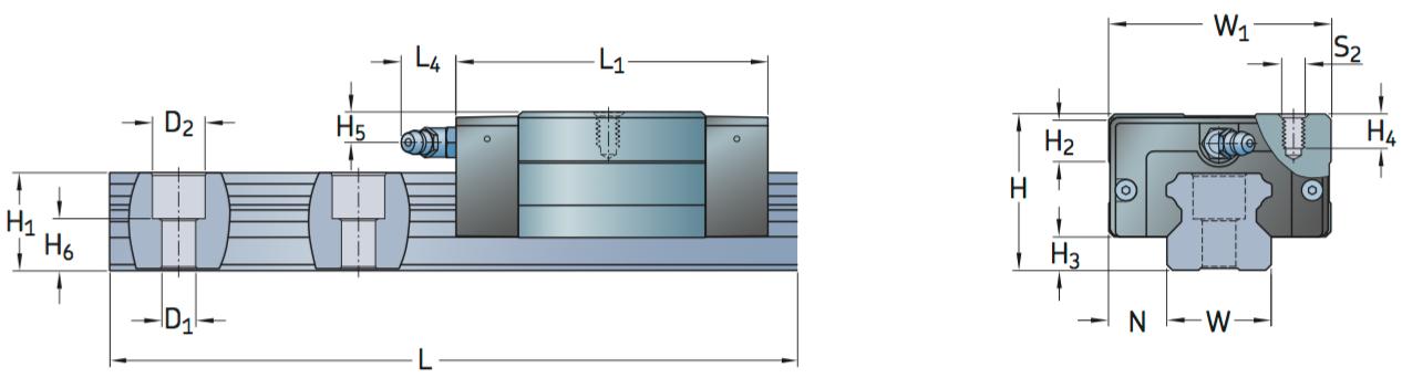 CAD afbeelding LLTHC SU loopwagen
