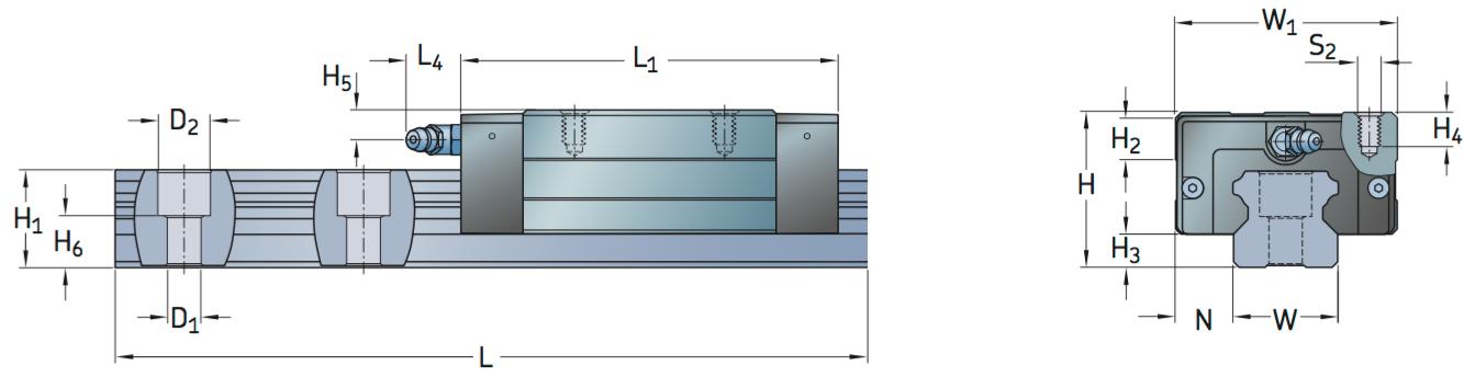 CAD afbeelding LLTHC U loopwagen