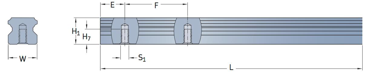 CAD afbeelding LLTHR D4 profielrails