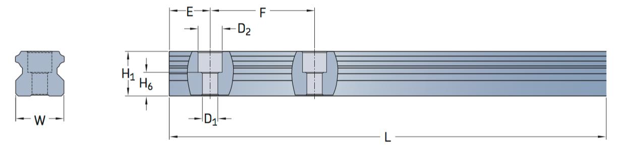 CA LLTHR profile rail