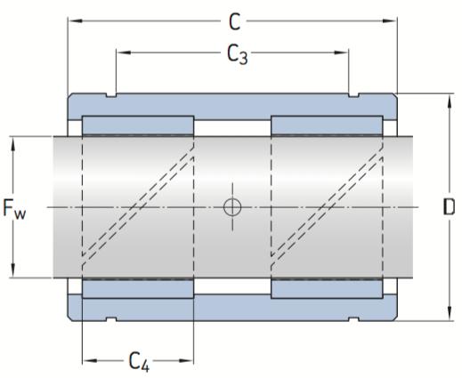CAD afbeelding LPAR LPAT glijlager