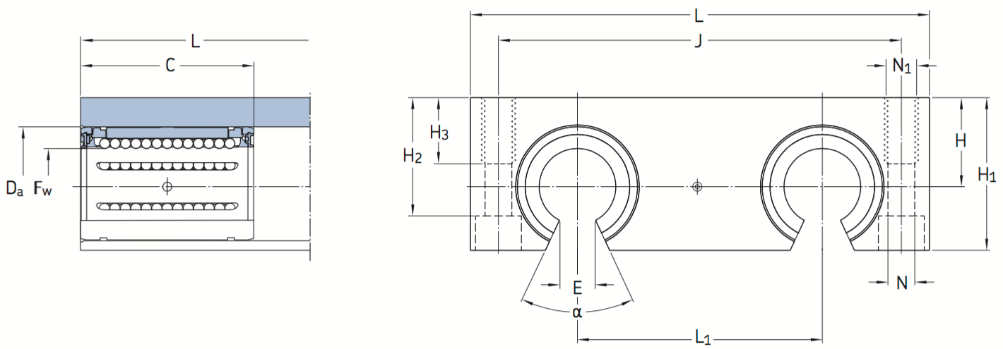 CAD LQCF bearing unit
