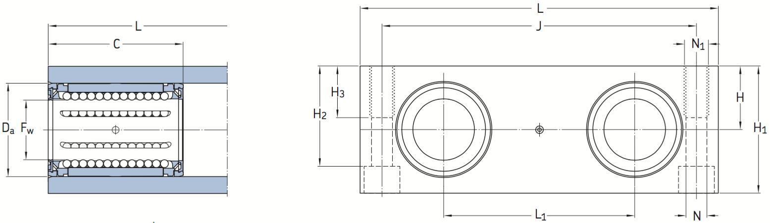 CAD afbeelding LQCR lagereenheid