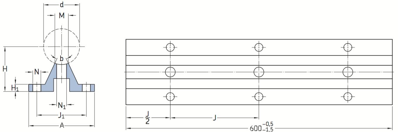 CAD afbeelding LRCB as-ondersteuning