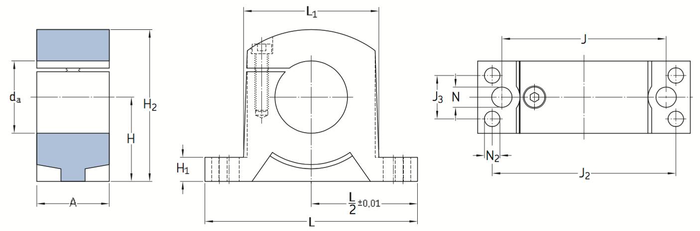 CAD LSCS shaft block
