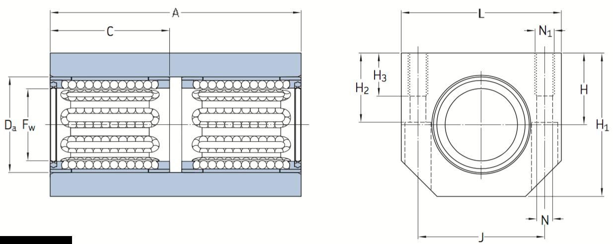 CAD LTBR bearing unit