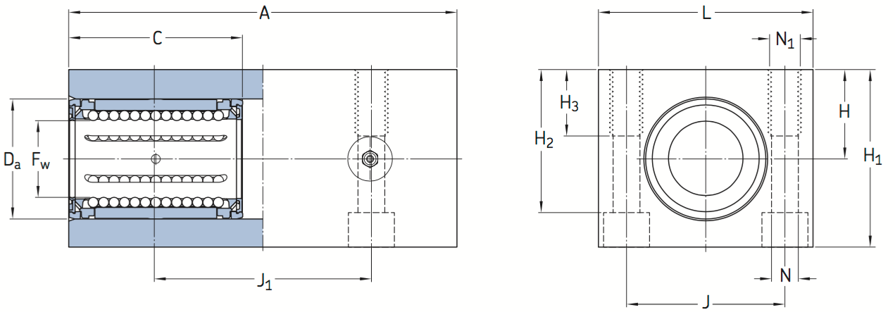 CAD LTCD bearing unit