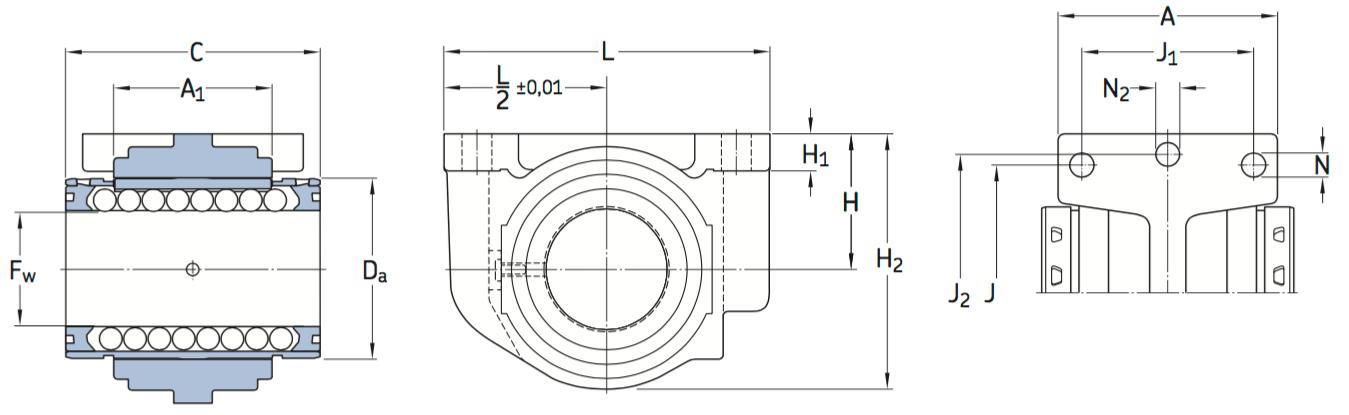 CAD LUCD D bearing unit