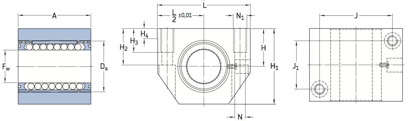 CAD afbeelding LUND D lagereenheid