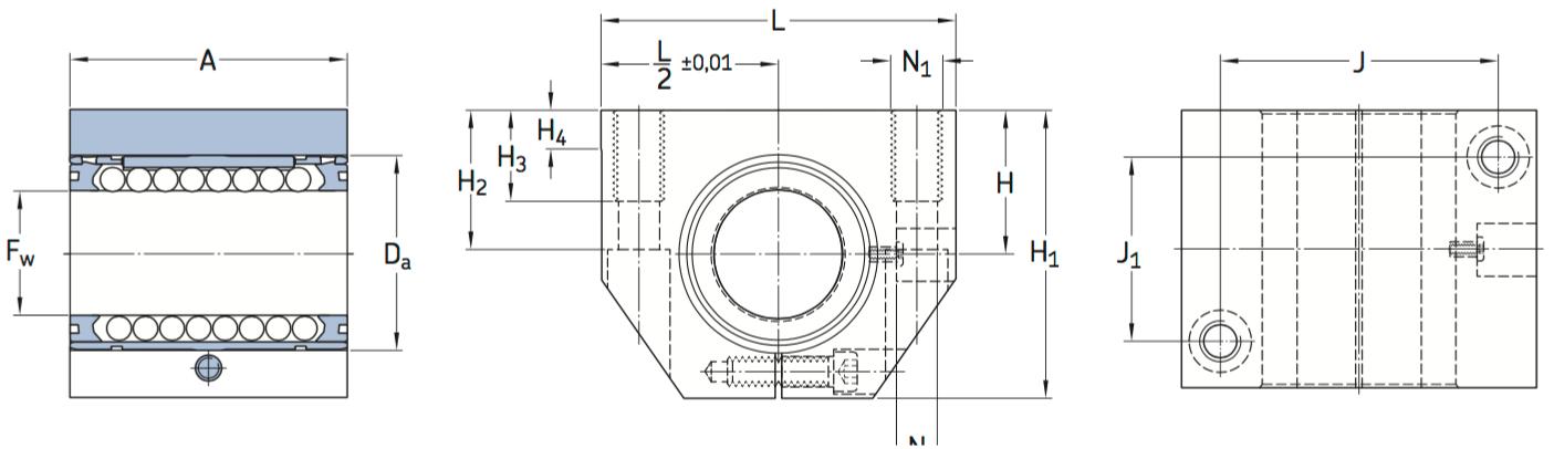 CAD LUNE D bearing unit