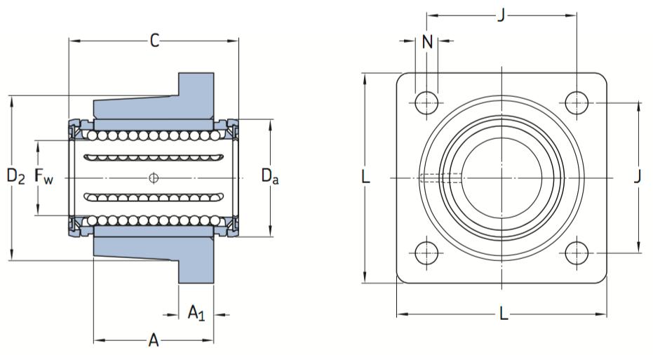 CAD afbeelding LVCD lagereenheid