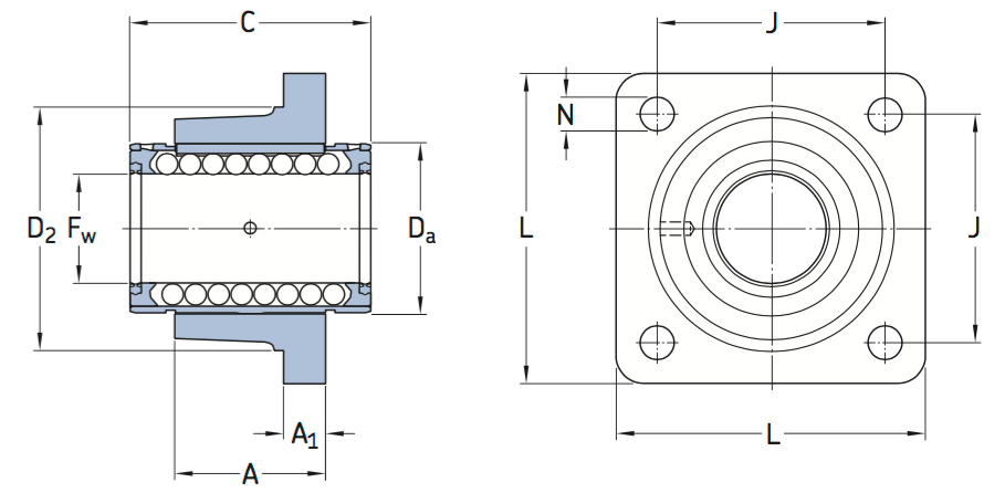 CAD LVCR D bearing unit
