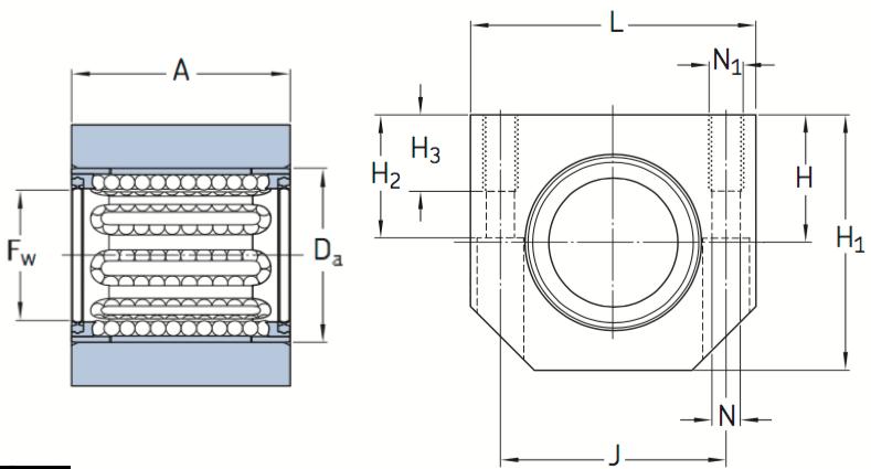 CAD LUHR bearing unit