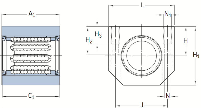 CAD LUJR bearing unit