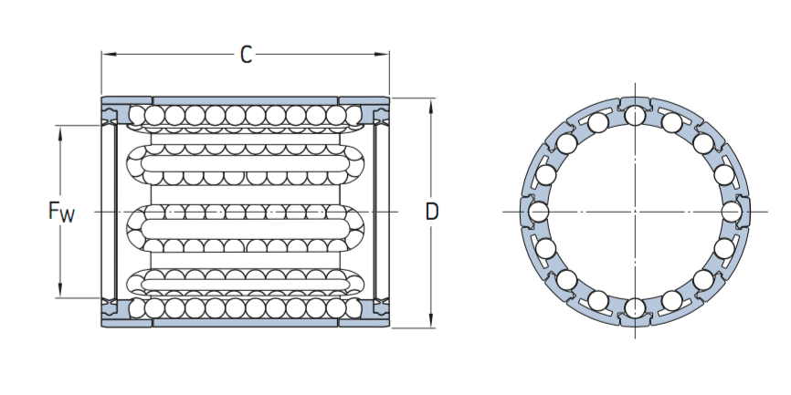 CAD LBBR ball bearing